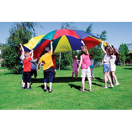 Paracaidas de Nylon con varios colores y 12 asas
